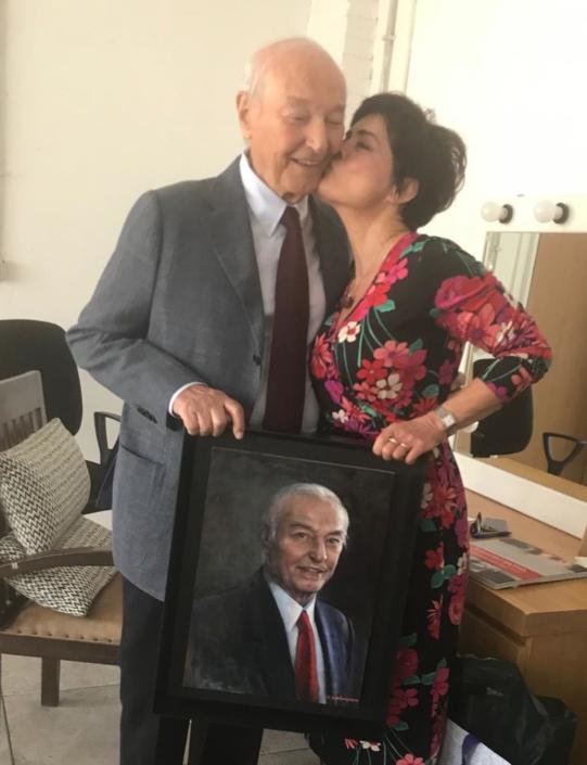 2019 consegna ritratto Piero Angela