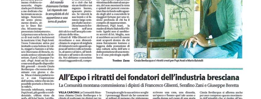 CINZIA - PUPI AVATI - BALOTELLI da Giornale di Brescia 16-10-2014