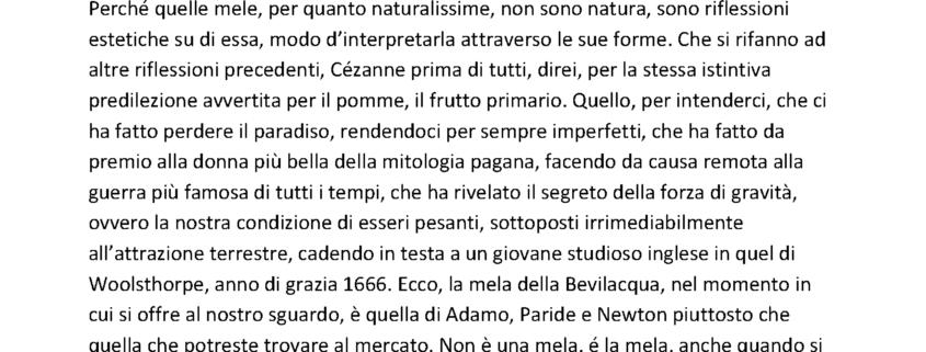 La Mela di Vittorio Sgarbi