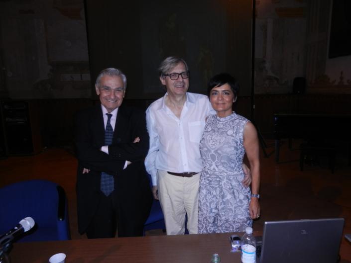 Vittorio Sgarbi e Roberto Armenia